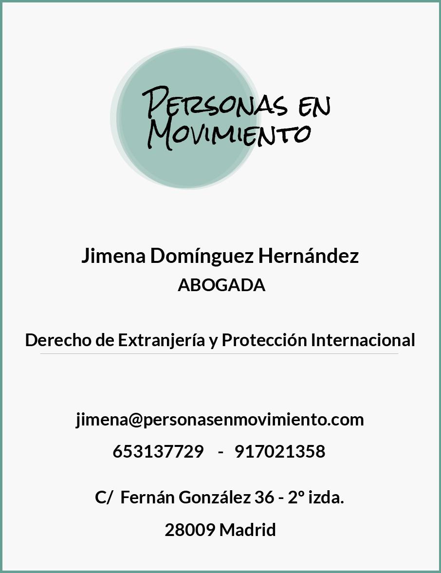 Jimena Domínguez Hernández, abogada de extranjería e inmigración. Derecho de Extranjería. Madrid.